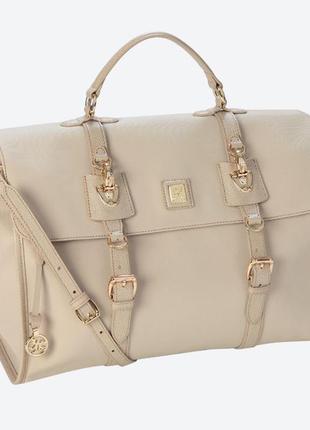 Piero guidi супер эффектная и вместительная сумка/портфель/кроссбоди италия