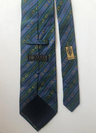 Винтажный шелковый галстук gucci