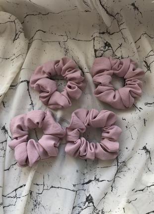 Розовая резинка для волос/скранчи/рожева резинка для волосся