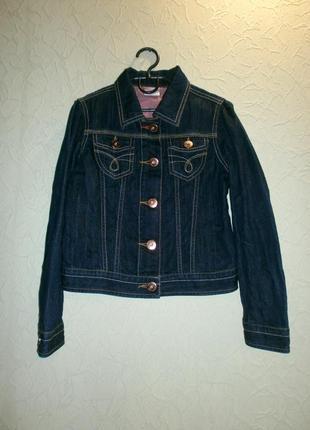 Джинсовка пиджак джинсовый куртка джинсовая для девочки 9-10лет