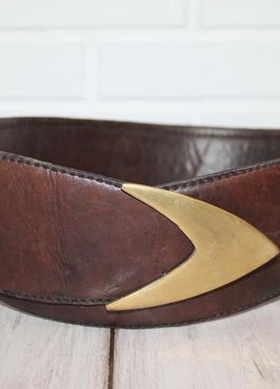 Роскошный кожаный пояс с геометричной пряжкой+плетеная кожа