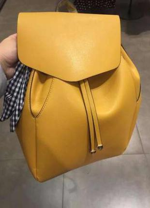 Желтый рюкзак zara в наличии