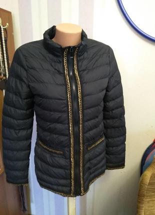 Шикарный легкий пуховик, куртка зима весна, деуор цепь