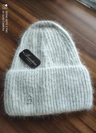 Ангоровая шапка, светло-серый