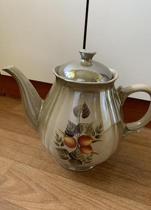Винтажный кувшин чайник на 3л