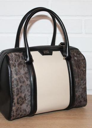 Кожаная сумка class roberto cavalli