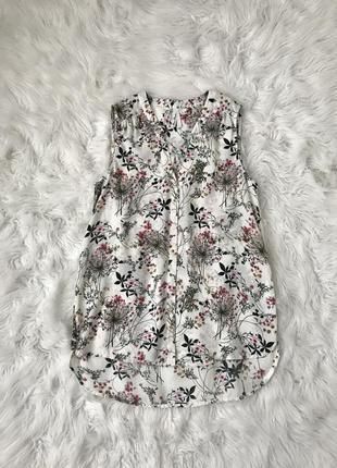 Легкая удлиненная блузка s/m miss etam франция 🇫🇷 оригинал