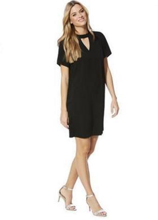 F&f платье чёрное новое прямое трапеция с чокером базовое классическое