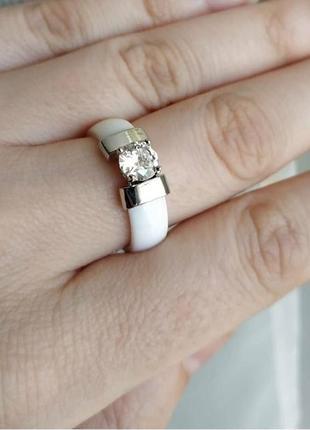 Кільце біле кераміка керамическое керамічне кольцо колечко керамика4 фото