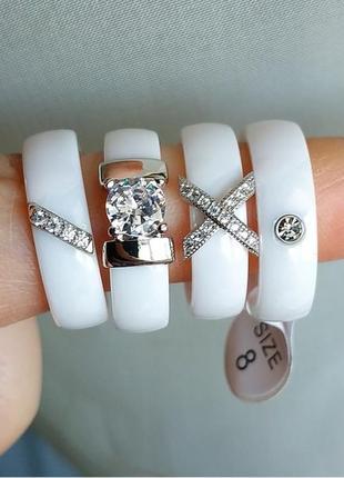 Кільце біле кераміка керамическое керамічне кольцо колечко керамика3 фото