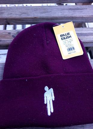 Тёплая шапка billie eilish