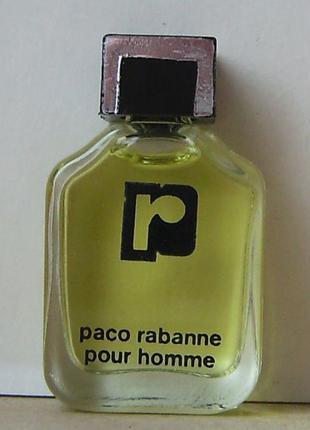 Paco rabanne pour homme - edt - 3.5 мл. оригінал. вінтаж