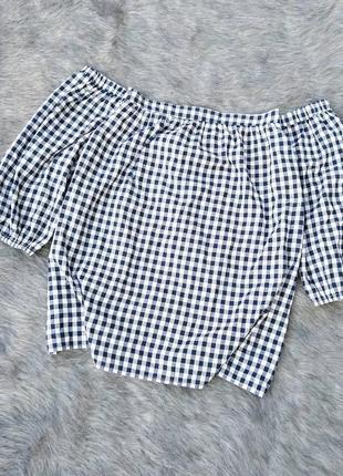 Хлопковая блуза топ кофточка на плечи dorothy perkins