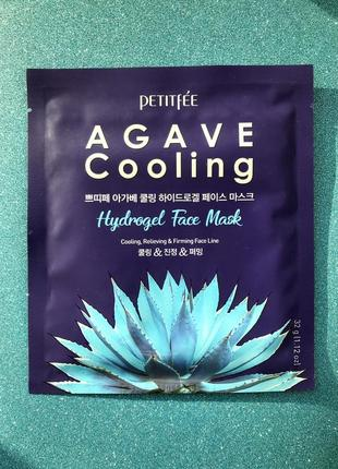 Гидрогелевая маска для лица с агавой petitfee agave cooling hydrogel face mask