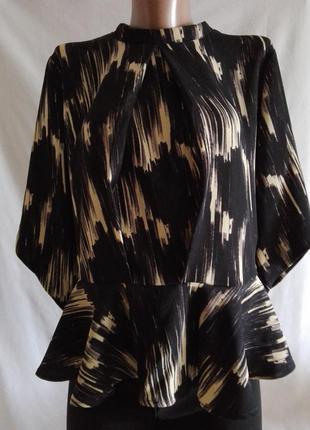 Блуза блузка кофта кофточка с баской   vero moda р.44     №о25