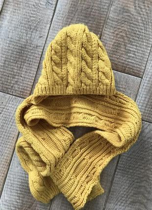Шапка-шарф на дівчинку 1 рік