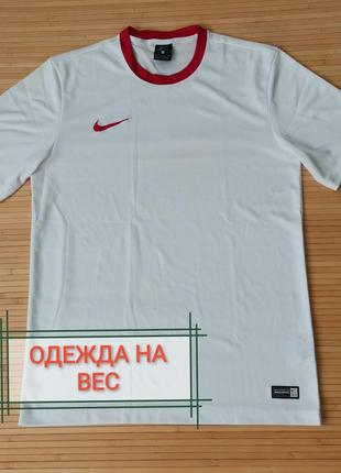 Nike футбольная футболка легкая белая - м