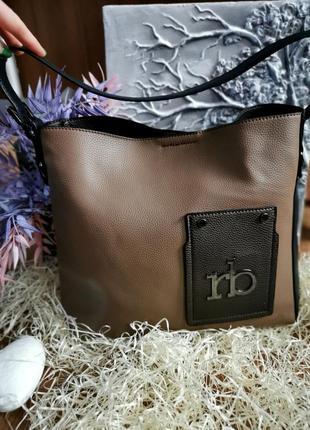 Комбінована сумка через плече від roccobarocco🤎