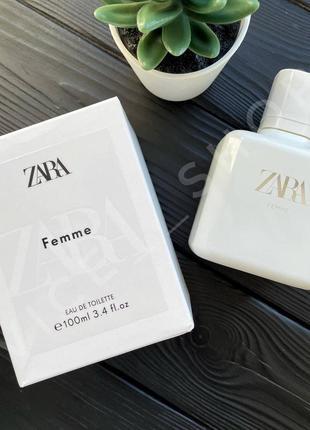 Zara femme 100мл духи парфюмерия туалетная вода испания купить