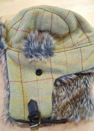Теплая шапка-ушанка
