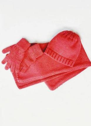 Комплект: шапка,шарф, перчатки colin's.