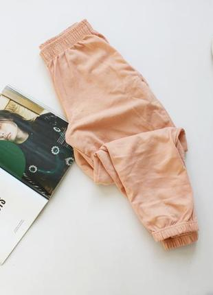 Классные джогерры штаны спортивные  персиковые хс