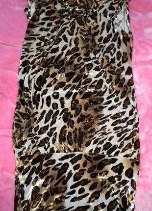 Плаття леопардове велюр