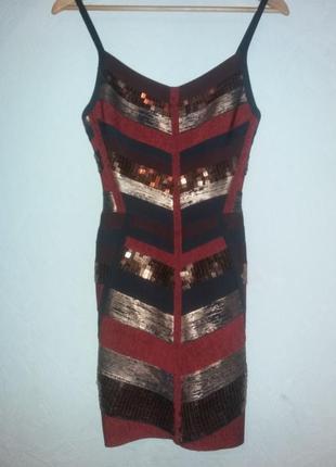 Необычное платье с пайетками, бирка срезана