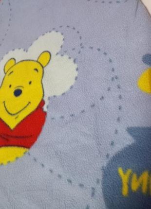 Дитячий флісовий плед з вінніпухом  покривало disney