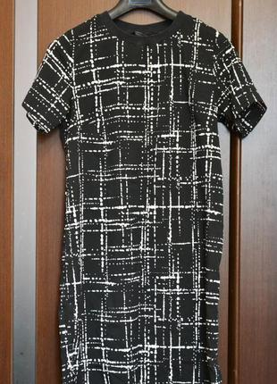 Летнее шифоновое платье-футболка прямого кроя, сарафан f&f
