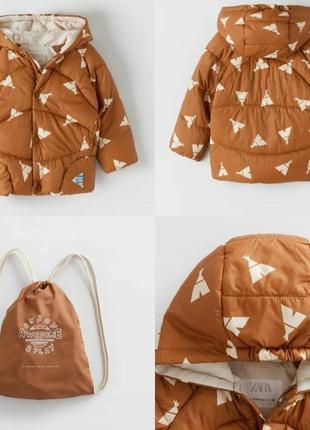 Демисезонная куртка zara детская на 9-12 мес, фирменная куртка зара на мальчика девочку