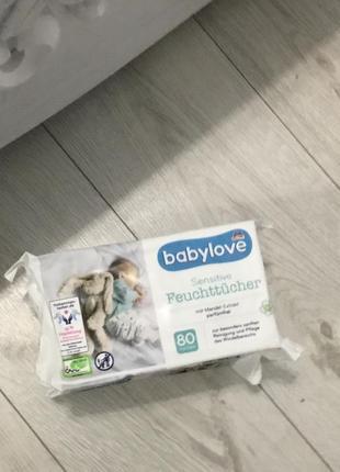 Детские влажные салфетки  babylove фирмы denk mit (не содержат спирт)