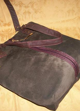 Натуральная замша -кожа.модная эксклюзивная сумка.