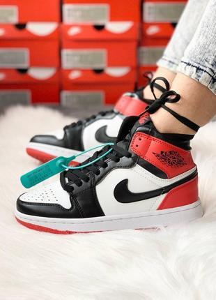 Nike air jordan 1 retro red black