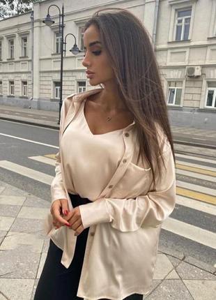 Рубашка и топ атлас