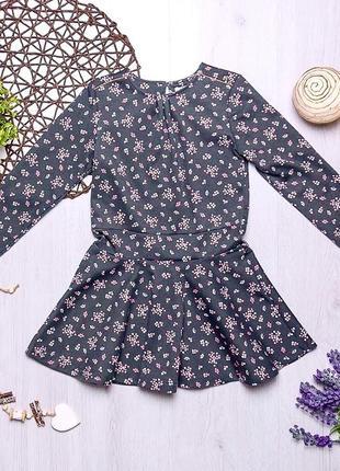 Плотное трикотажное нарядное платье с длинным рукавом для девочки ovs италия