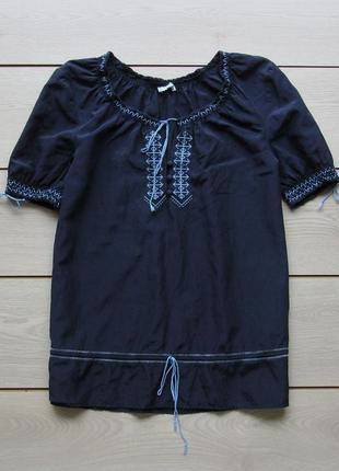 Легкая блуза вышиванка хлопок шелк от maddison
