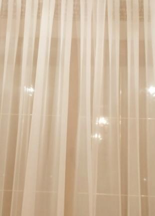 Тюль вуаль цвет топленное молоко 6 метров