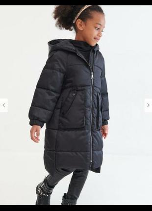 Reserved 💖 тепла довга стильна куртка пуховик для маленької леді 😊 110, 116 р