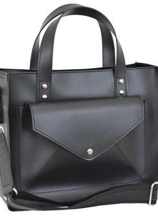 Елегантна сумка  з натуральноі шкіри та штучноі