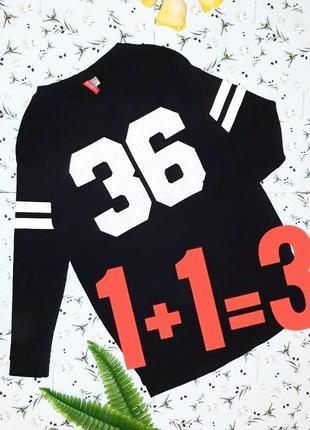 🎁1+1=3 модное черное свободное платье оверсайз h&m, размер 44 - 46