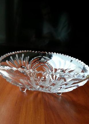 Хрустальная ваза салатница/конфетница ссср