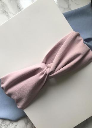 Широкая повязка на голову/тюрбан в розовом цвете