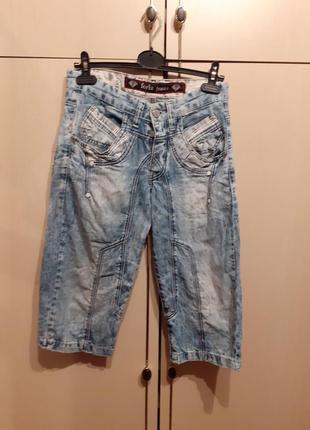 Бриджи джинсовые foriz jeans