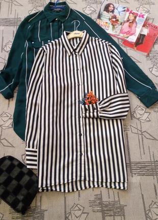 Актуальная рубашка в полоску, zara, размер 10-12