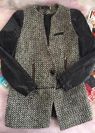 Стильное,  удобное шерстяное пиджак - пальто