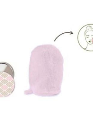 Набор : перчатка и зеркальце для снятия макияжа