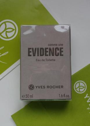 Evidence homme 50 мл  yves rocher -ив роше евиденс эвиденс