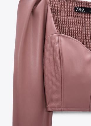 Топ кофта блуза кожа шкіра еко кожанная зара5 фото