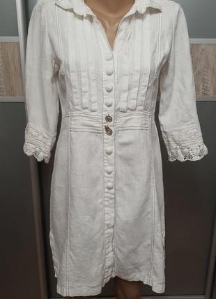Платье халат лен италия